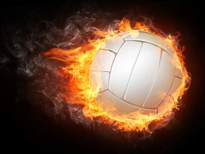 Volleyball Ball on White Background. Vector.